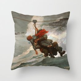 The Life Line by Winslow Homer, 1884 Throw Pillow