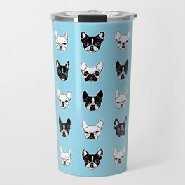 Cute Frenchies Doggie Family Collage Travel Mug
