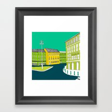CITY CENTRE // TOWN Framed Art Print