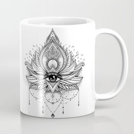 Lotus flower + All seeing eye. Coffee Mug
