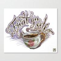 treat yo self Canvas Prints featuring Treat Yo Self by Bokkei