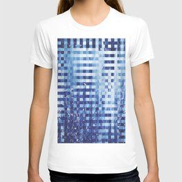 Nautical pixel abstract pattern T-shirt