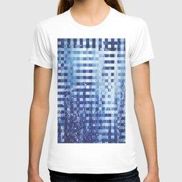 Nautical pixel abstract pattern T-shirt