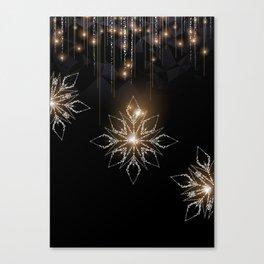 Elegant Snowflake decoration Canvas Print