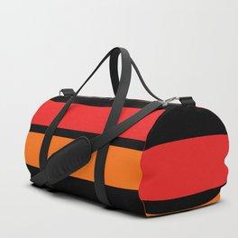 2 Stripes Red Orange Duffle Bag