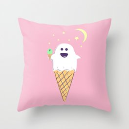 Spooky Scoops Throw Pillow