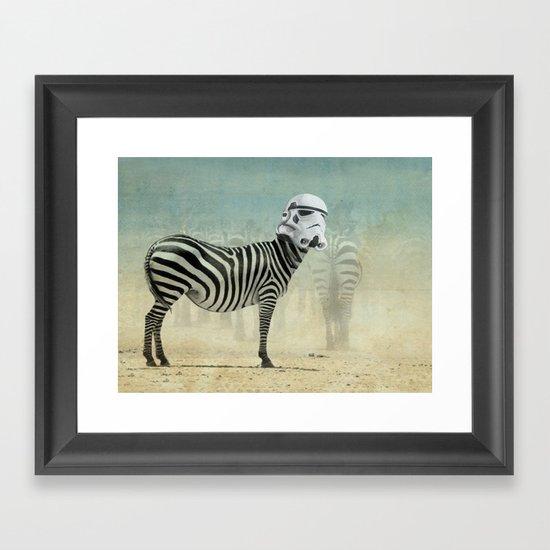 Trooper Stripes  _ Star Wars _ Zebra Framed Art Print