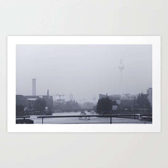 A View from Oberbaumbrücke Art Print