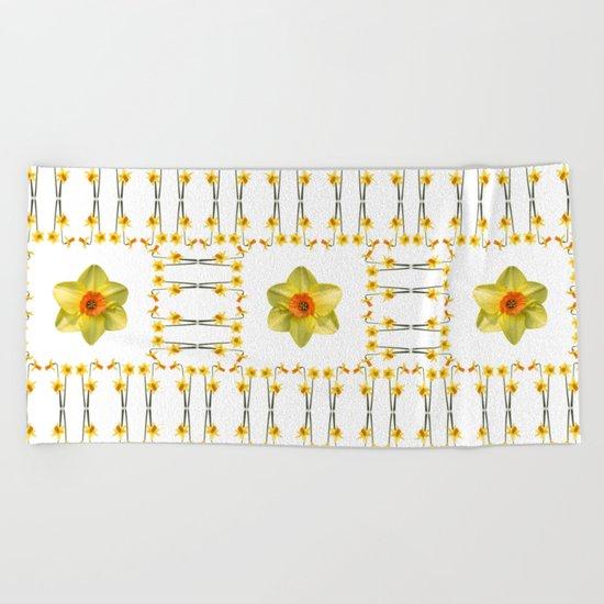 Daffodil Madness Beach Towel