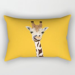 The Nose-picking Giraffe (no fingers needed) Rectangular Pillow
