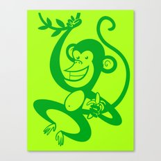 Green Monkey Canvas Print