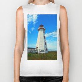 North Cape Lighthouse window wall Biker Tank