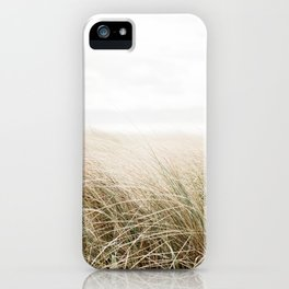 Dune grass | Ireland travel photogragraphy print | At the beach iPhone Case