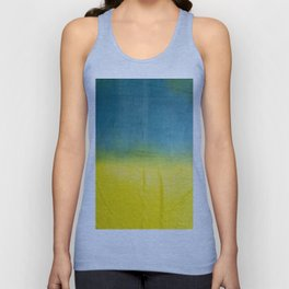 blue yellow ombre Unisex Tank Top