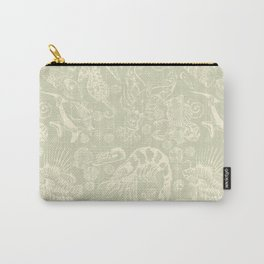 Ocean Critters with Grey Background Carry-All Pouch