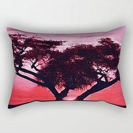 Cherry Blossom Sunset Rectangular Pillow