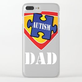 Autism Dad Superhero Tshirt Clear iPhone Case