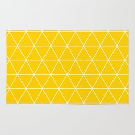 Triangle yellow-white geometric pattern Rug
