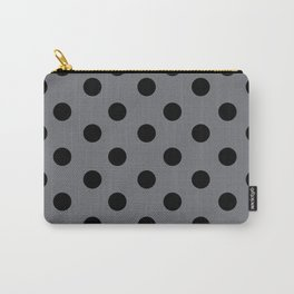 Grey & Black Polka Dots Carry-All Pouch