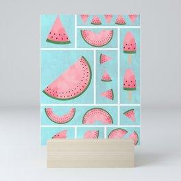 Watermelon Grids Mini Art Print