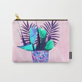 Summer Mermaid Tail With Tropical Flowers Bouquet Carry-All Pouch