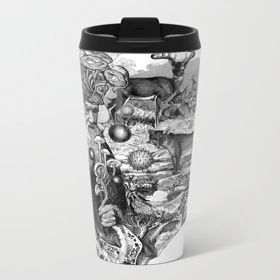 Psilocybe Metal Travel Mug