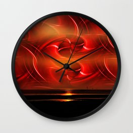 Abstract perfection - Sunst Wall Clock