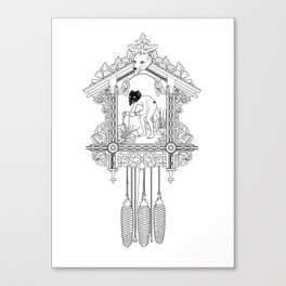 "Cuckoo clock, ""I have gone cuckoo."" Canvas Print"