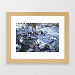Rushing By Framed Art Print