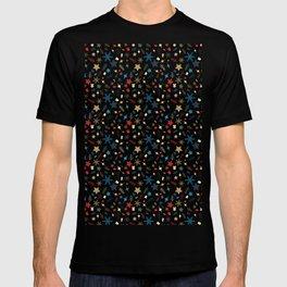 Christmas elements mix pattern T-shirt