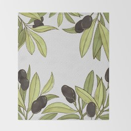 Olive Comfort Throw Blanket