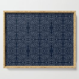 Celestial Stars Art, Indigo Blue, Boho Wall Art, Serving Tray