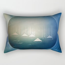 Communicate in Blue / Archipelago 27-01-17 Rectangular Pillow