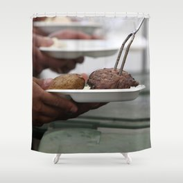 Summertime Grilling Shower Curtain