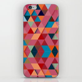 Colorfull abstract darker triangle pattern iPhone Skin