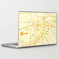 maps Laptop & iPad Skins featuring Maps - Pretoria by DRIEHOEK