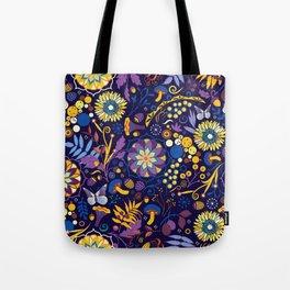 Ripe autumn – purple and yellow Tote Bag