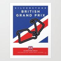 My F1 SILVERSTONE Race Track Minimal Poster Art Print