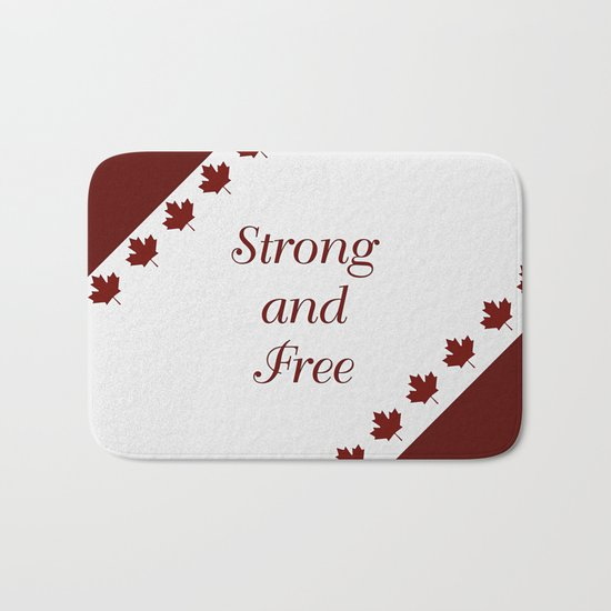 Canada - Strong and Free Bath Mat