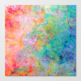 Kiss of Aether - Original Abstract Art by Vinn Wong Canvas Print