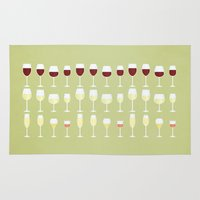 wine Area & Throw Rugs featuring Wine by Sara Showalter