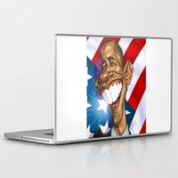 obama Laptop & iPad Skins featuring Barack Obama by Patrick Dea