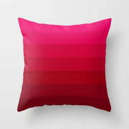 Pink and Red Stripes Throw Pillow