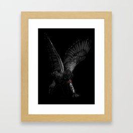 winged winter soldier Framed Art Print
