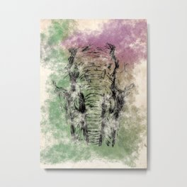 Water Color Elephant  Metal Print