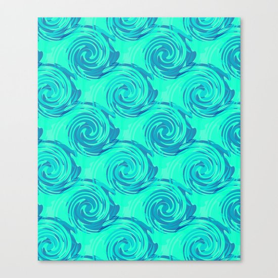 Abstract pattern in turquoise and blue tones. Canvas Print