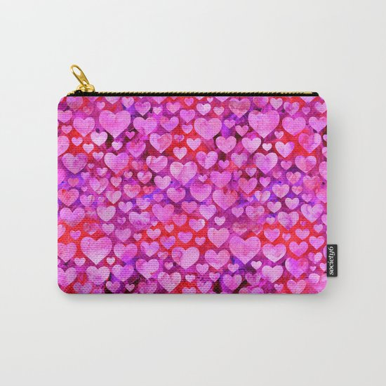 Heart Pattern 08 Carry-All Pouch