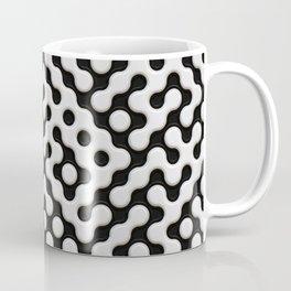 Black & White Truchet Tilling Mosaic Coffee Mug