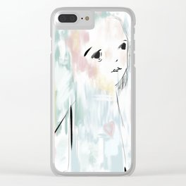 Zoe Illustration Child Clear iPhone Case