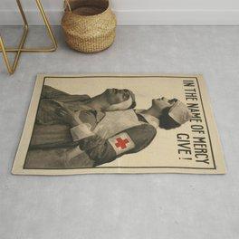 Vintage poster - Give Blood Rug